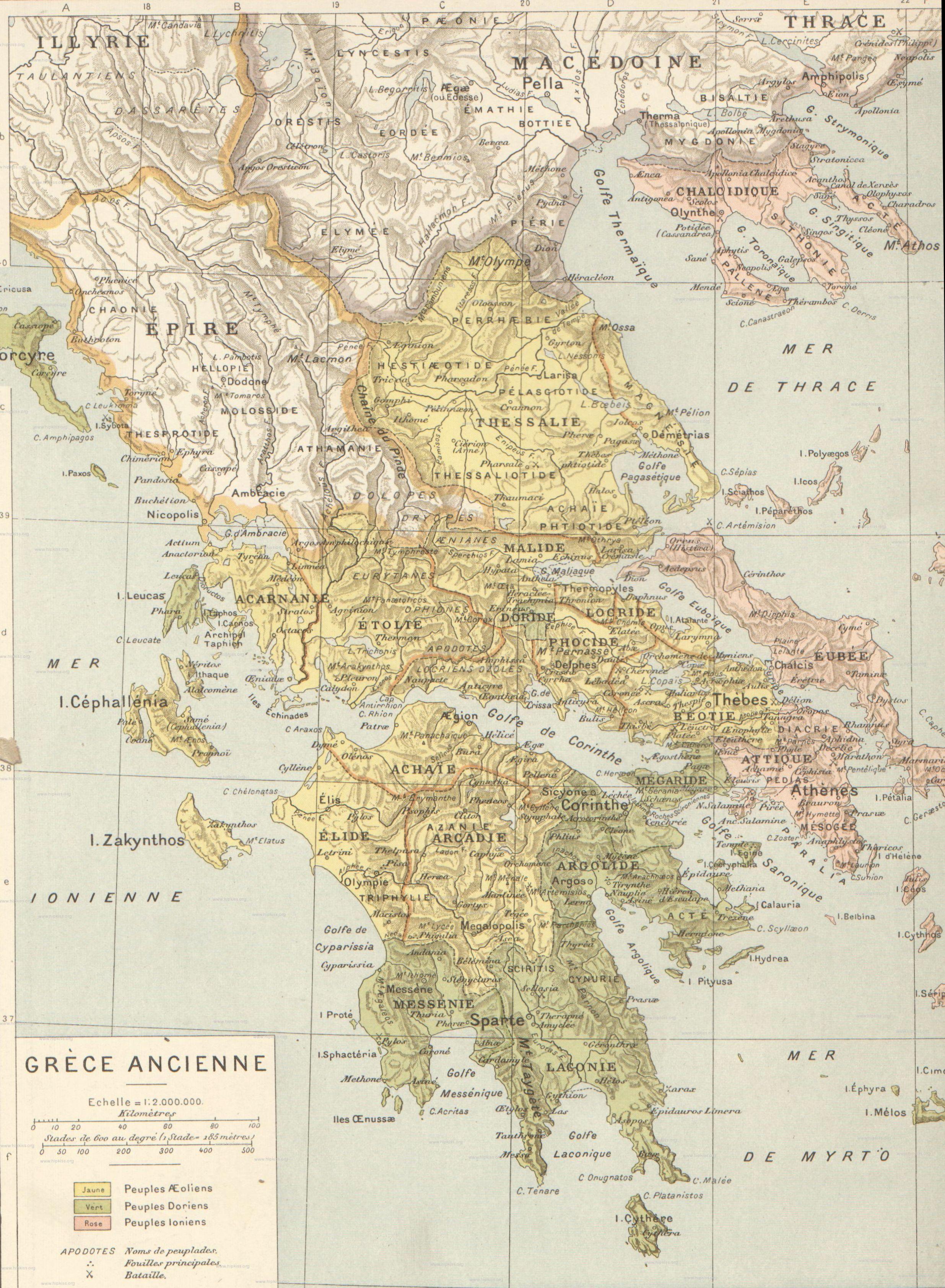Paxos Cartina Geografica.Cartine Della Grecia Antica